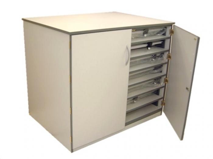 drawing board storage unit a0 5 shelf cupboard design. Black Bedroom Furniture Sets. Home Design Ideas