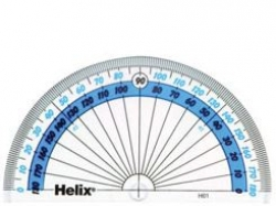 Helix 180 degree 100mm Protractor