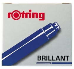 Rotring Brilliant Ink Cartridges Blue