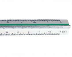 300mm Linex Triangular Scale Rule 100 - 500