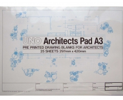 A3 Designdraft Architects� Drawing Blanks 90gm Pad