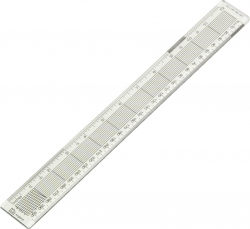 300mm Blundell Harling Acrylic Graphics Ruler