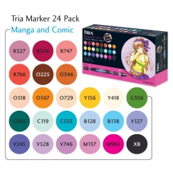 Letraset Tria Markers Manga & Comic - 24 Pack
