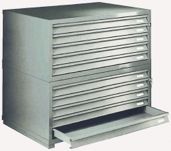 A0 7 Drawer Designfile Capital Steel Planchests