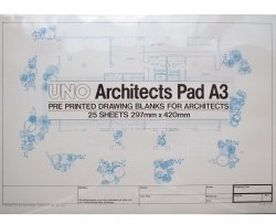 A2 Architects Drawing Blanks 90gsm Pad Designdraft