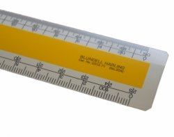 "12"" Blundell Harling Oval Scale Ruler - Architects, Imperial"