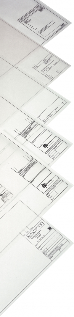 A4 Printed Drawing Sheets - Drafting Film 75mic - 1 colour